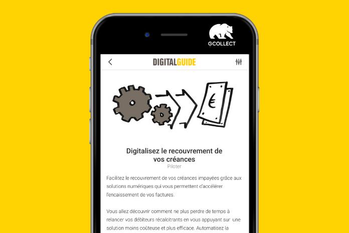 Un guide digital du recouvrement  réalisé pour Bpifrance par GCollect